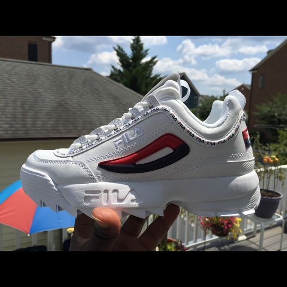 Fila Disruptor II 2 premium Repeat white navy red
